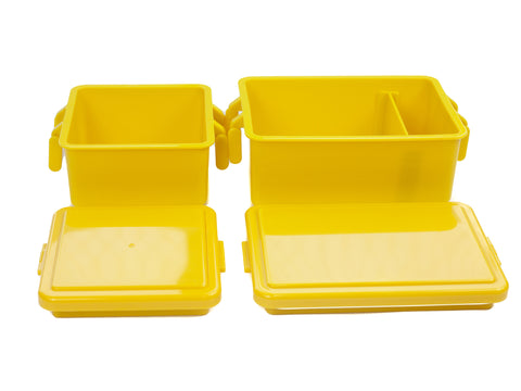 Gel Cool Square Bento Set (400+220ml) | Corn Yellow