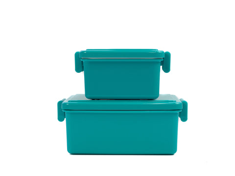 Gel Cool Square Bento Set (400+220ml) | Gorgonzola Blue