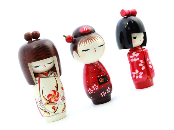 Cute Kokeshi Wood Doll