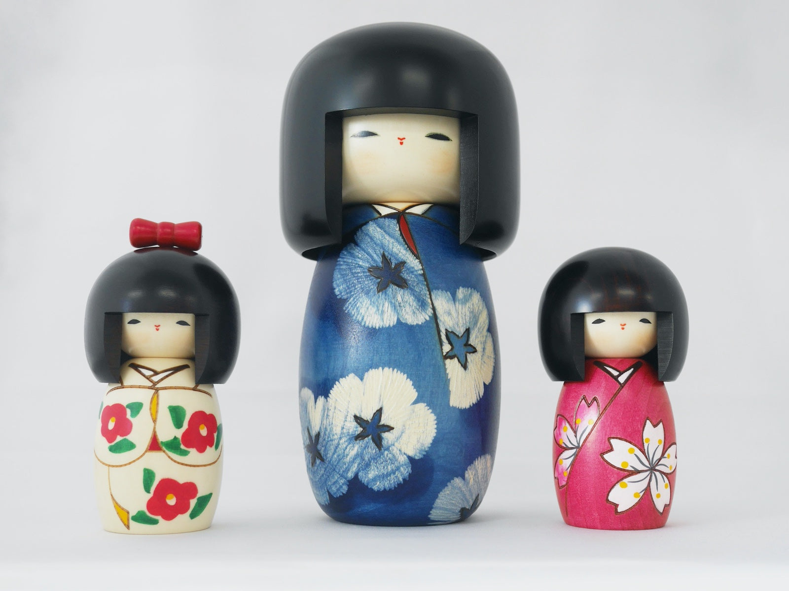 Kokeshi Wood Doll | Ribbon
