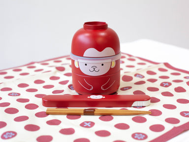 Kokeshi Saru Chopsticks Set | Red by Hakoya - Bento&co Japanese Bento Lunch Boxes and Kitchenware Specialists