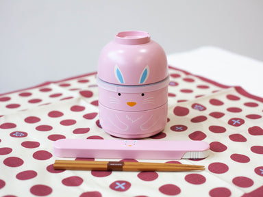 Kokeshi Usagi Chopsticks Set | Pink by Hakoya - Bento&co Japanese Bento Lunch Boxes and Kitchenware Specialists