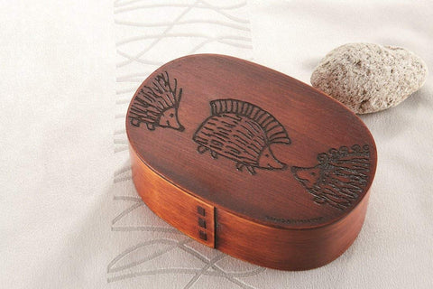 Lisa Larson Hedgehog Magewappa Bento Box