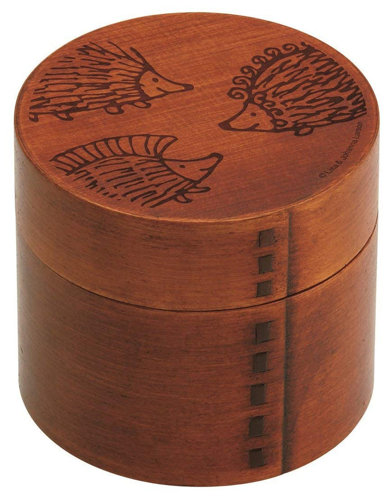 Lisa Larson Hedgehog Magewappa Round Bento Box by Skater - Bento&co Japanese Bento Lunch Boxes and Kitchenware Specialists