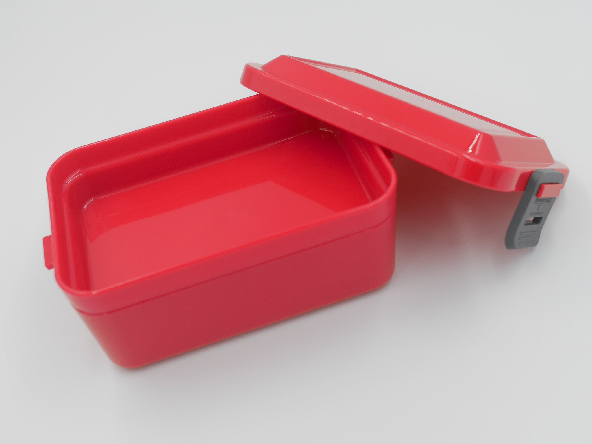 Löffel-Gabel Silicone Buckle Two-tier Lunch Box | Red