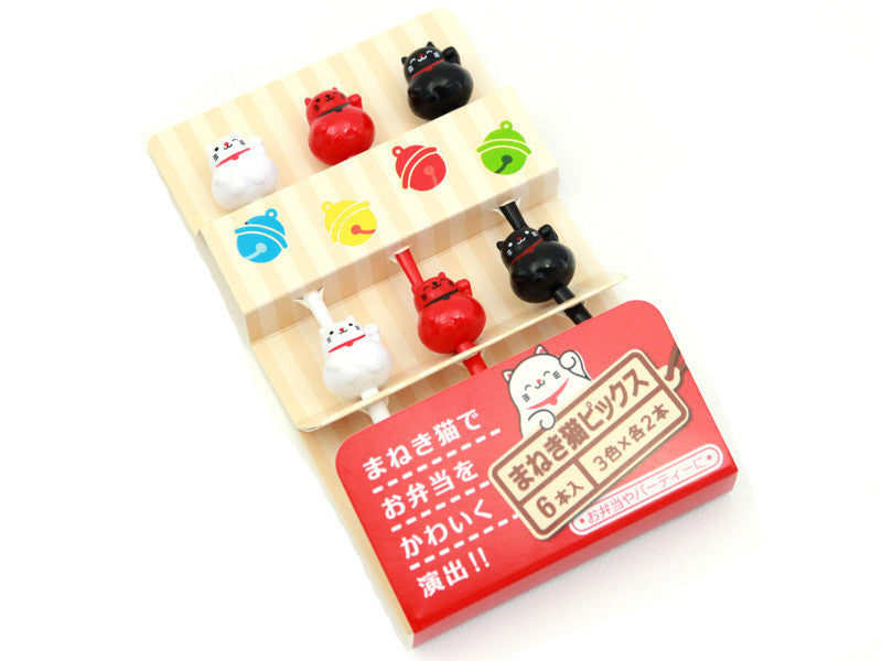 Maneki Neko Picks by Maruki - Bento&co Japanese Bento Lunch Boxes and Kitchenware Specialists