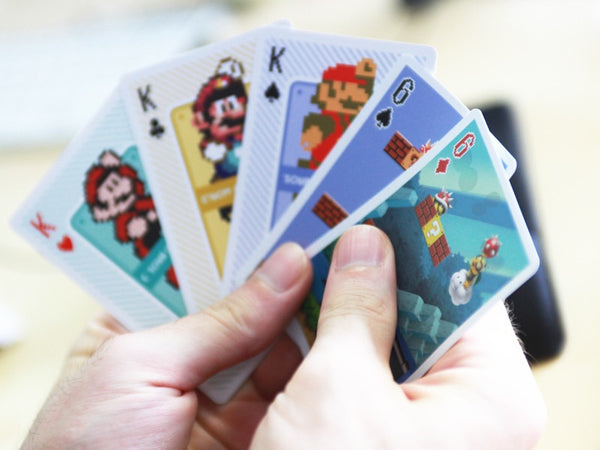 mario cards, nintendo, playing cards