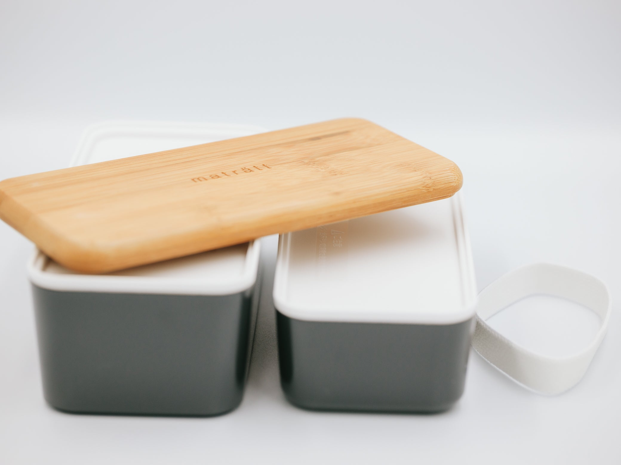 Maträtt Two-tier Lunchbox | Charcoal