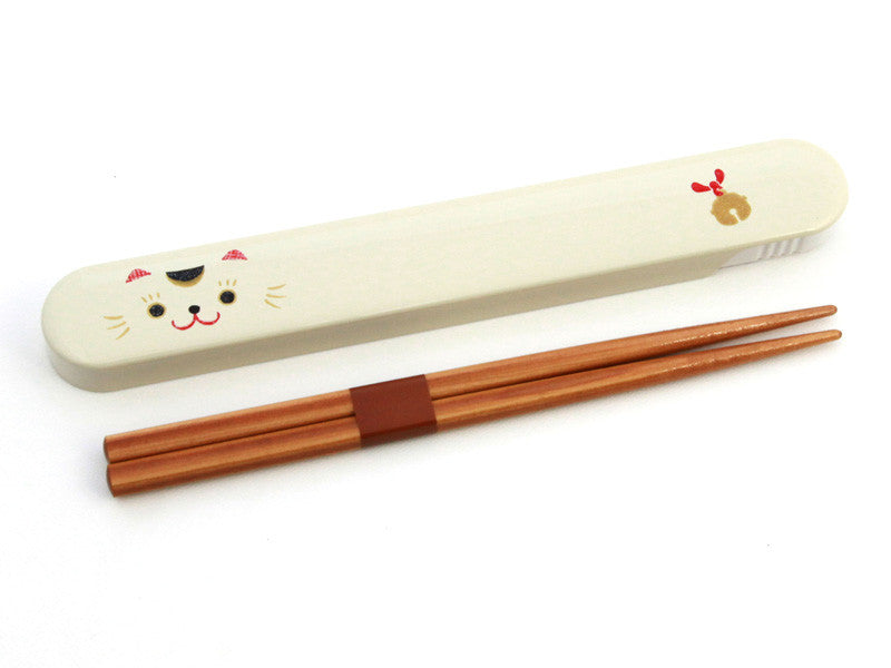 Kao Neko Chopsticks | White by Hakoya - Bento&con the Bento Boxes specialist from Kyoto