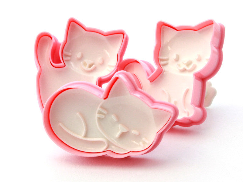 Neko Cookie Molds by Arnest - Bento&co Japanese Bento Lunch Boxes and Kitchenware Specialists