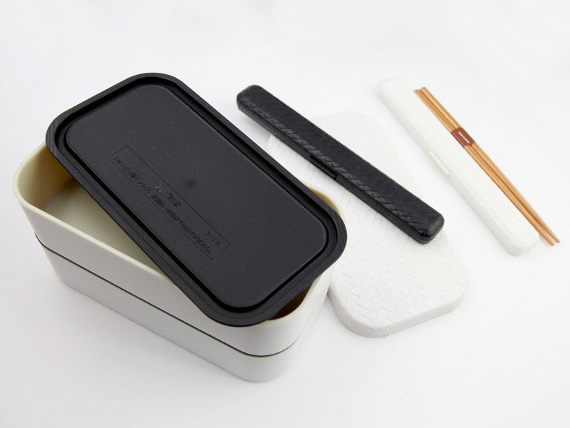 Nuri Ajiro Rectangle Bento Box Large | White - Bento&co