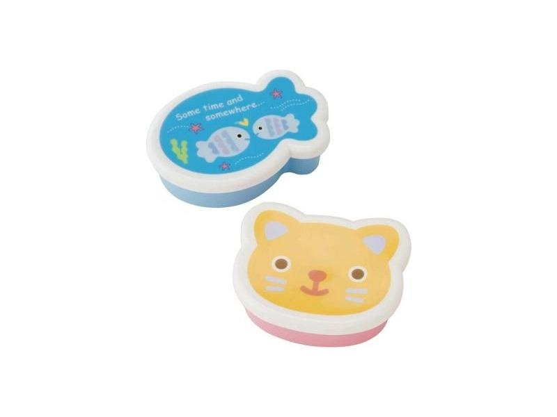 Cat & Fish Mini Boxes by Torune - Bento&co Japanese Bento Lunch Boxes and Kitchenware Specialists