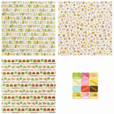 Sheets for sandwiches and burgers