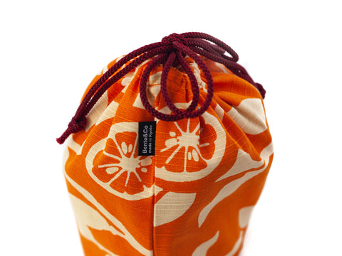 Original Furoshiki Bag | Orange by Sanyo Shoji - Bento&co Japanese Bento Lunch Boxes and Kitchenware Specialists