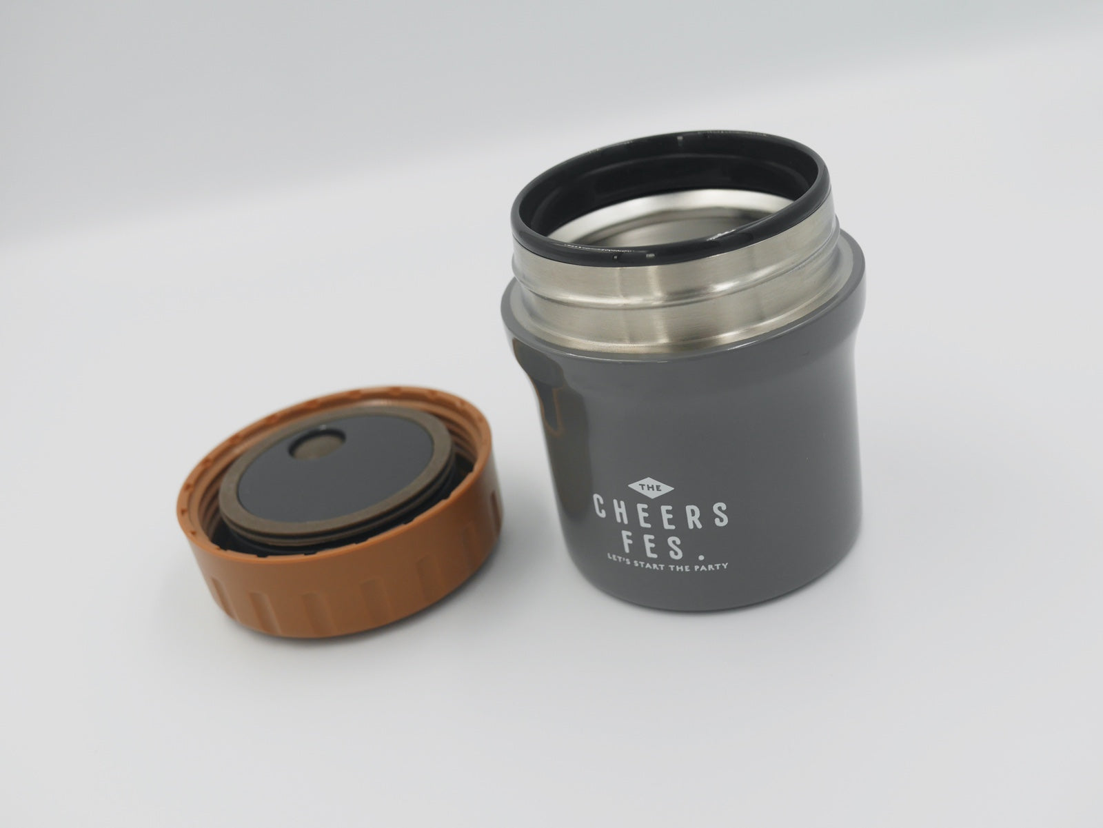 Cheers Fes Stainless Steel Soup Pot | Grey