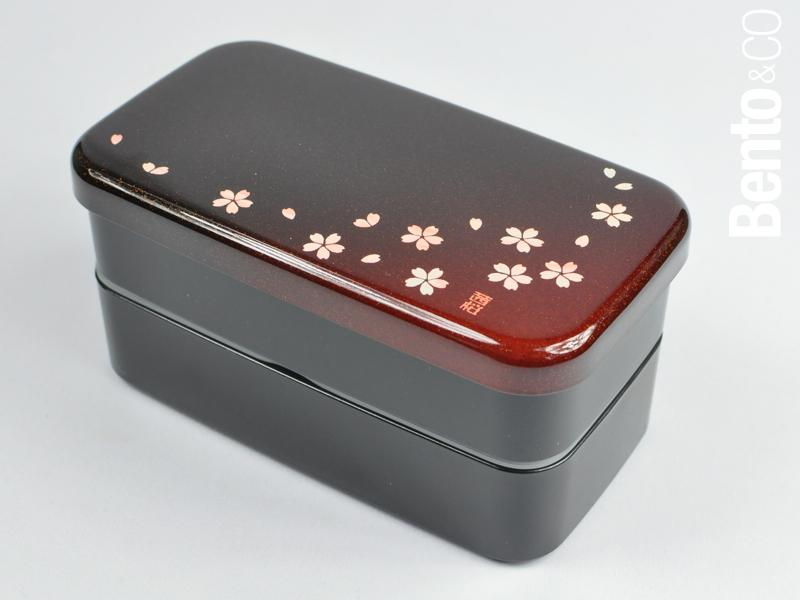 Sakura Petals Two Tier Rectangle Bento Box by Hakoya - Bento&co Japanese Bento Lunch Boxes and Kitchenware Specialists