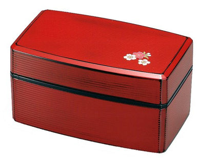 Sakura Negoro Bento Box Red by Hakoya - Bento&co Japanese Bento Lunch Boxes and Kitchenware Specialists