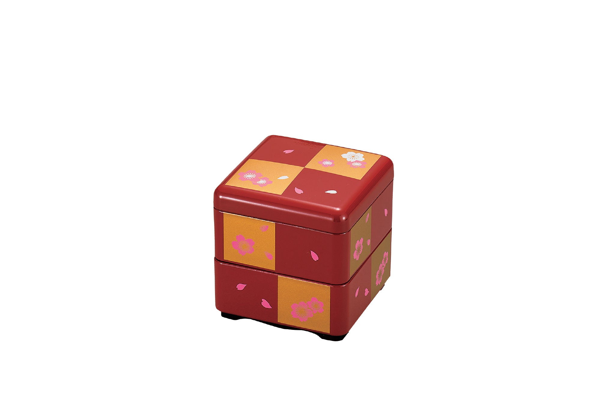 Sakura Square Bento Box Small | Red and Gold by Hakoya - Bento&co Japanese Bento Lunch Boxes and Kitchenware Specialists