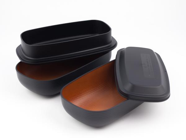 Samon Lunch Box Dai | Black by Hakoya - Bento&co Japanese Bento Lunch Boxes and Kitchenware Specialists