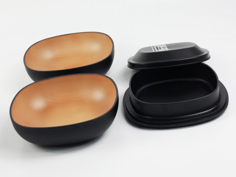 Samon Lunch Bowl | Black by Hakoya - Bento&co Japanese Bento Lunch Boxes and Kitchenware Specialists