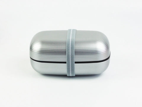 Samon Lunch Box | Silver by Hakoya - Bento&co Japanese Bento Lunch Boxes and Kitchenware Specialists