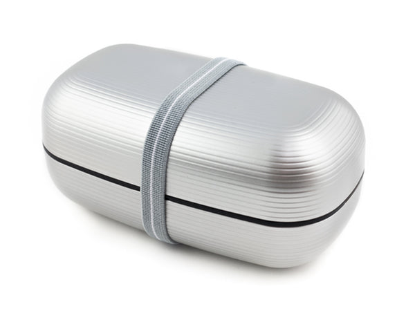 Samon Lunch Box Dai | Silver by Hakoya - Bento&con the Bento Boxes specialist from Kyoto