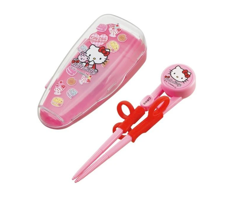 Hello Kitty Special Training Chopsticks & Case | Pink