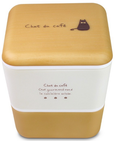 Chat du Cafe Square Wood Bento Box | Natural by Showa - Bento&co Japanese Bento Lunch Boxes and Kitchenware Specialists