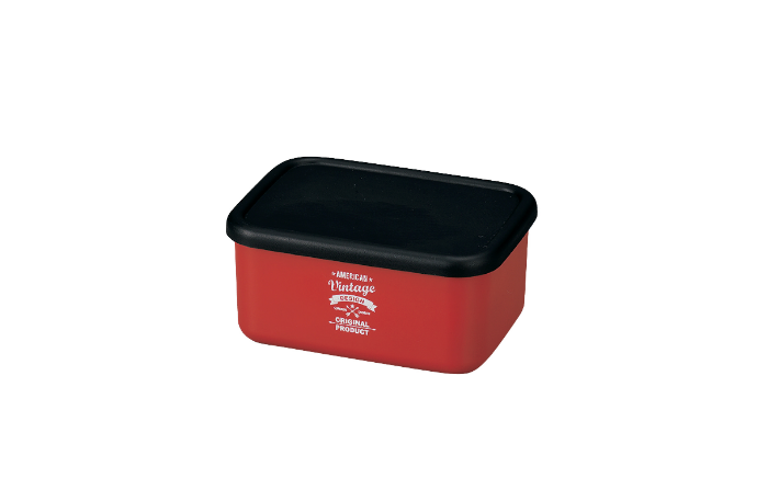 American Vintage Bento Box Small | Red by Hakoya - Bento&co Japanese Bento Lunch Boxes and Kitchenware Specialists