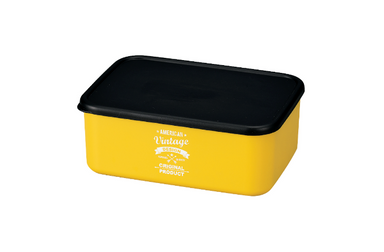 American Vintage Bento Box Large | Yellow by Hakoya - Bento&co Japanese Bento Lunch Boxes and Kitchenware Specialists