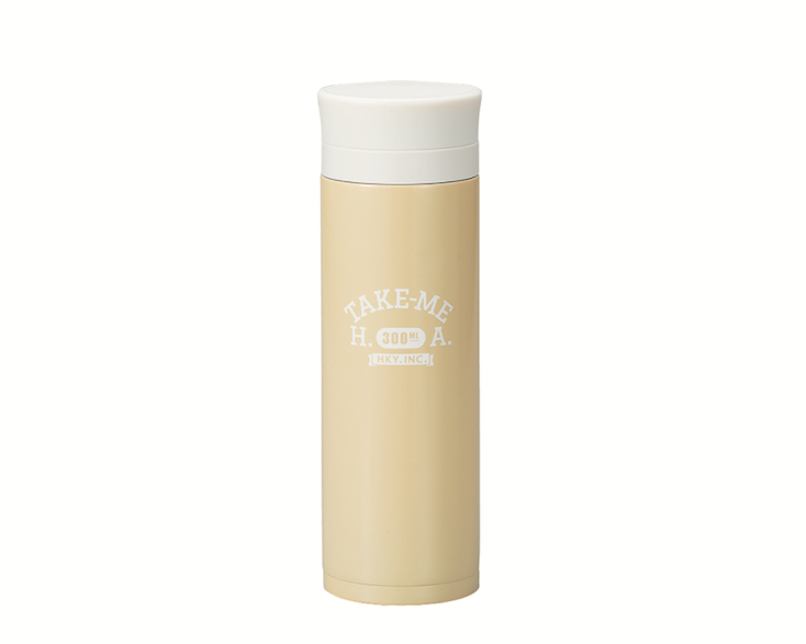 Pastel Stainless Steel Bottle | Beige by Hakoya - Bento&co Japanese Bento Lunch Boxes and Kitchenware Specialists