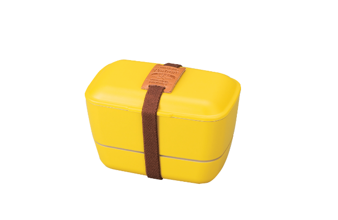 American Vintage Two Tier Bento Box | Yellow by Hakoya - Bento&co Japanese Bento Lunch Boxes and Kitchenware Specialists