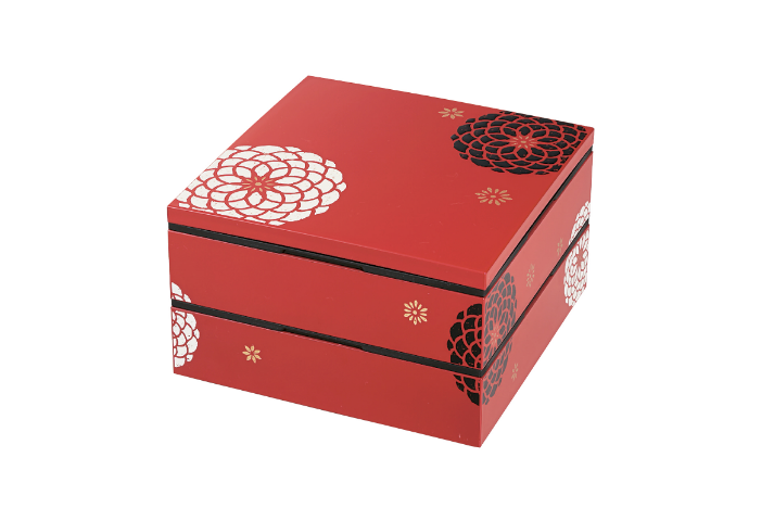 Ojyu Two Tier Picnic Box | Red