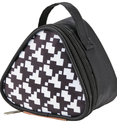 Insulated Double Onigiri Case | Houndstooth