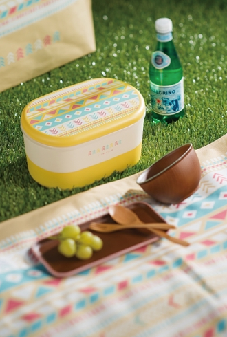 Summer Two Tier Bento Box | Yellow by Showa - Bento&co Japanese Bento Lunch Boxes and Kitchenware Specialists