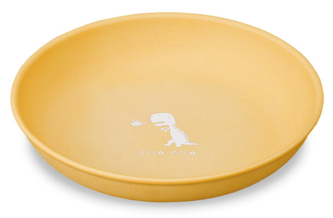 Tiny Dino Plate Large | Yellow by Showa - Bento&co Japanese Bento Lunch Boxes and Kitchenware Specialists