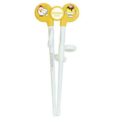Kids Training Chopsticks Yellow | Chicken (Left Handed) by edison - Bento&co Japanese Bento Lunch Boxes and Kitchenware Specialists