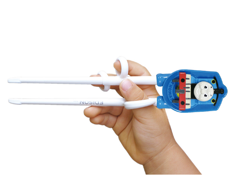 Kids Training Chopsticks & Case Thomas the Tank Engine | Blue (Right Handed) by edison - Bento&co Japanese Bento Lunch Boxes and Kitchenware Specialists