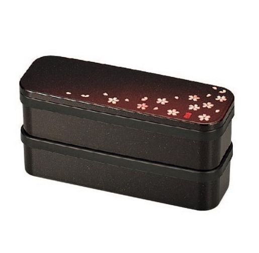 Sakura Petals Two Tier Slim Bento Box
