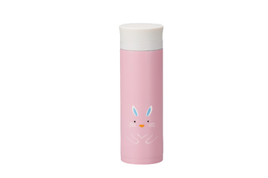 Kokeshi Usagi Stainless Steel Bottle | Pink by Hakoya - Bento&co Japanese Bento Lunch Boxes and Kitchenware Specialists