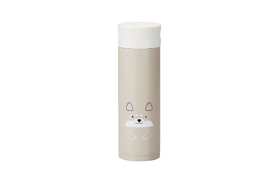 Kokeshi Shiba Inu Stainless Steel Bottle | Beige by Hakoya - Bento&co Japanese Bento Lunch Boxes and Kitchenware Specialists