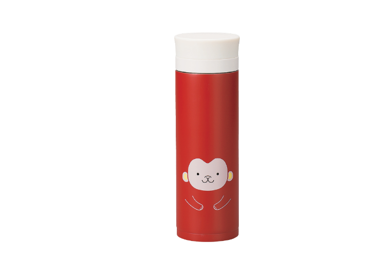 Kokeshi Saru Stainless Steel Bottle | Red