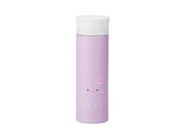 Kokeshi Neko Stainless Steel Bottle | Purple by Hakoya - Bento&co Japanese Bento Lunch Boxes and Kitchenware Specialists