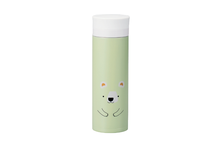 Kokeshi Kuma Stainless Steel Bottle | Green by Hakoya - Bento&co Japanese Bento Lunch Boxes and Kitchenware Specialists