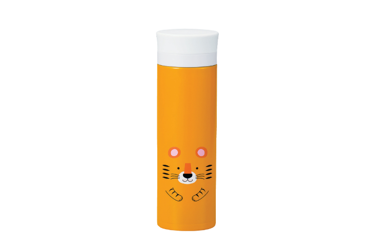 Kokeshi Tora Stainless Steel Bottle | Yellow