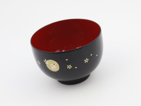 Shiru Wan Usagi Black Bowl by Hakoya - Bento&co Japanese Bento Lunch Boxes and Kitchenware Specialists