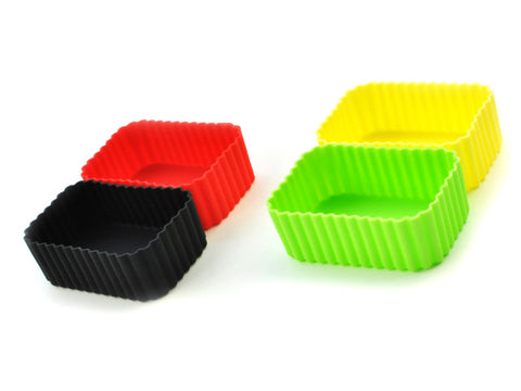 square silicon cups