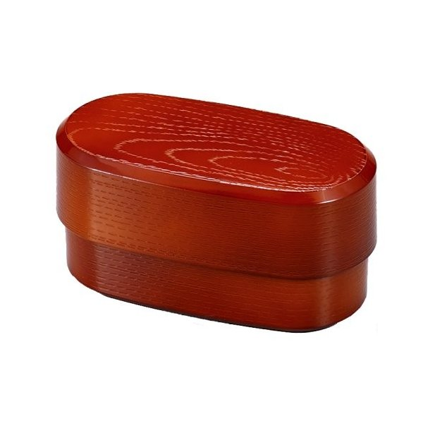 Slim Mokume Bento Red by Hakoya - Bento&co Japanese Bento Lunch Boxes and Kitchenware Specialists