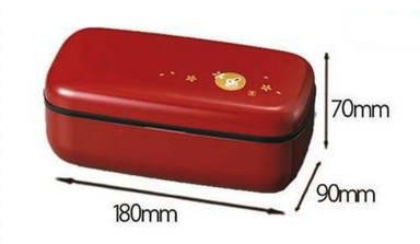 Usagi Slim One Tier Bento Box Red by Hakoya - Bento&co Japanese Bento Lunch Boxes and Kitchenware Specialists