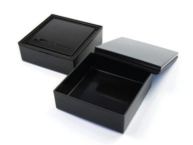 Square Lunch Black & Black by Bento&co - Bento&co Japanese Bento Lunch Boxes and Kitchenware Specialists